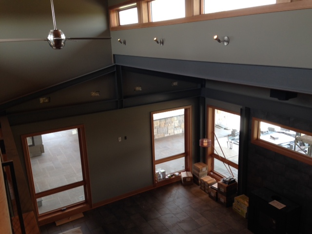 Home with exposed beams